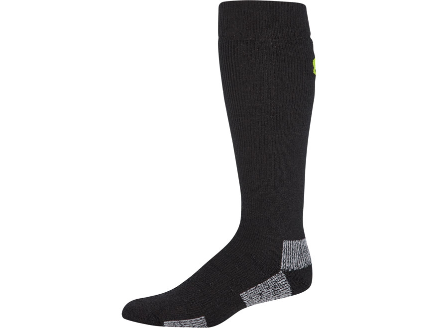 Under Armour Men's Scent Control II Over-the-Calf Boot Socks Synthetic Blend 1 Pair