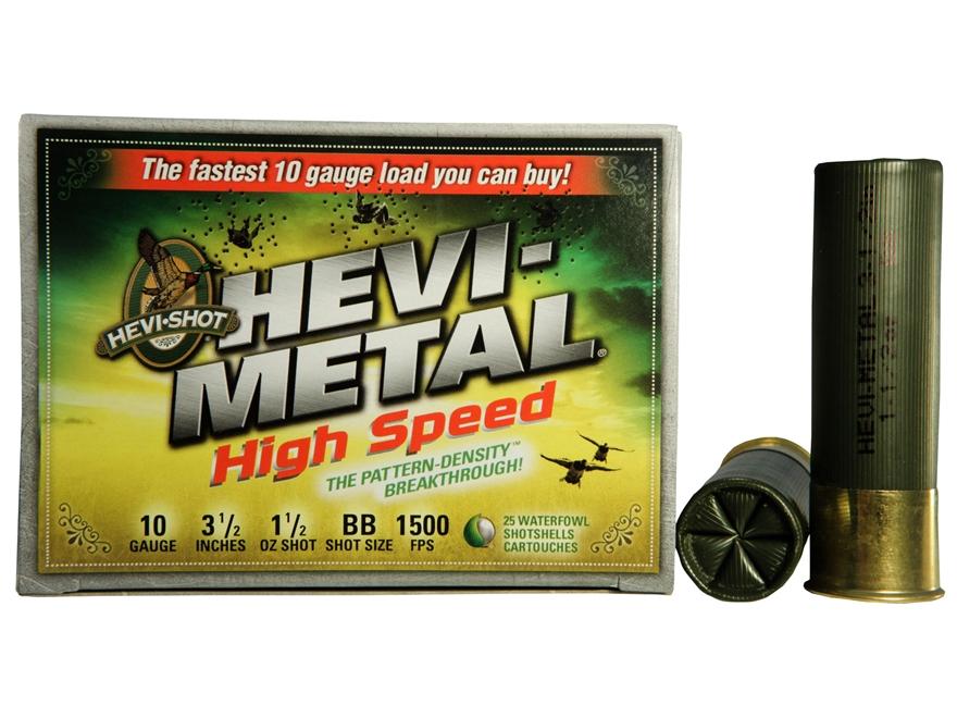 "Hevi-Shot Hevi-Metal Waterfowl Ammunition 10 Gauge 3-1/2"" 1-1/2 oz BB Non-Toxic Shot"