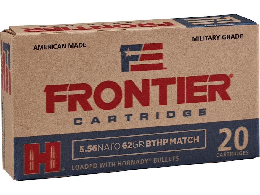 Frontier Cartridge Military Grade Ammunition 5.56x45mm NATO 62 Grain Hornady Hollow Poi...