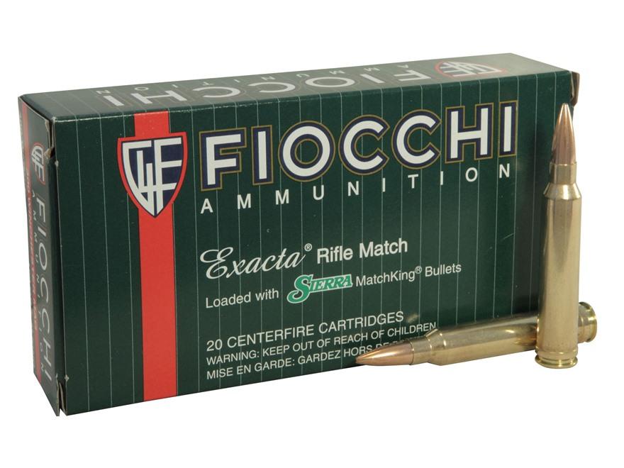 Fiocchi Exacta Ammunition 300 Winchester Magnum 190 Grain Sierra MatchKing Hollow Point...