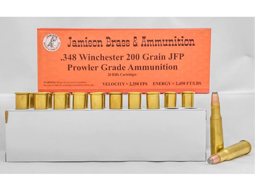 Jamison Ammunition 348 Winchester 200 Grain Jacketed Flat Point Box of 20