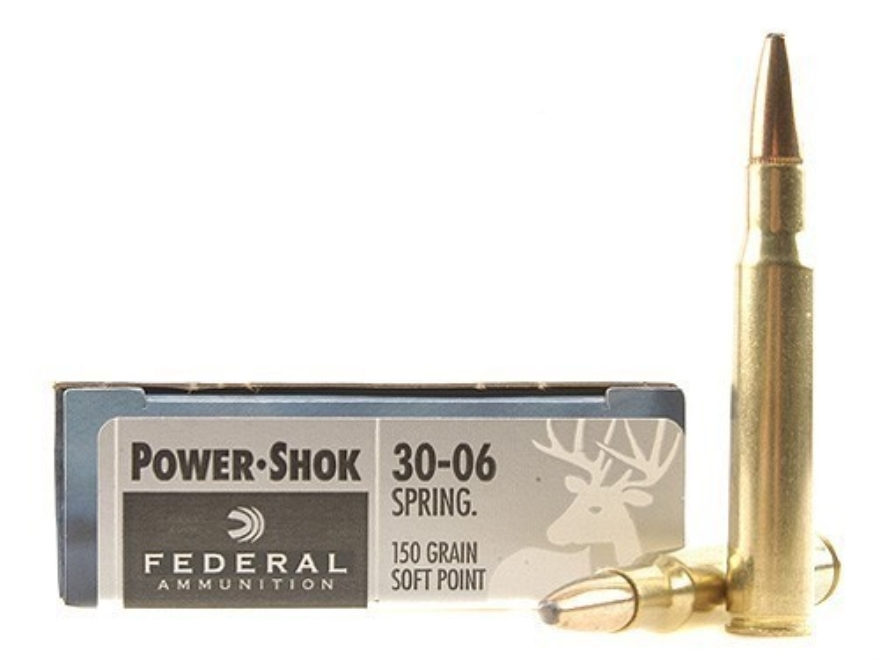 Federal Power-Shok Ammunition 30-06 Springfield 150 Grain Soft Point