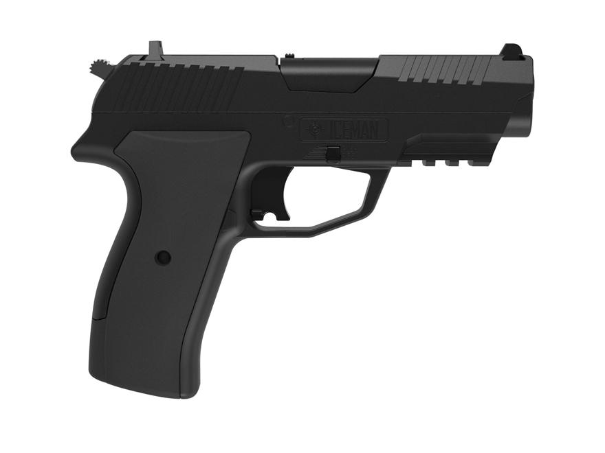 Crosman Iceman Air Pistol 177 Caliber Black Synthetic Grips Matte