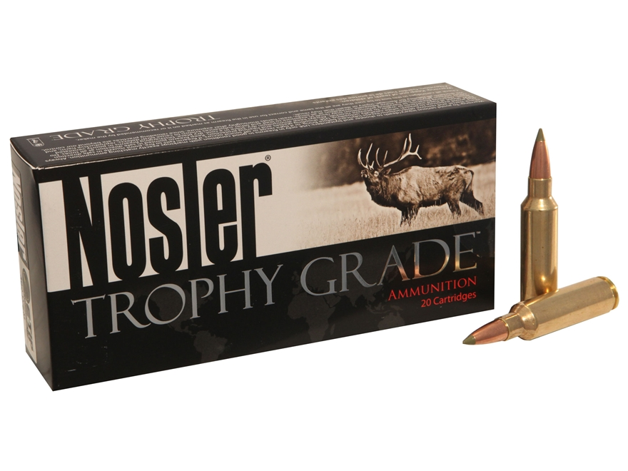 Nosler Trophy Grade Ammunition 300 Winchester Short Magnum (WSM) 180 Grain E-Tip Box of 20
