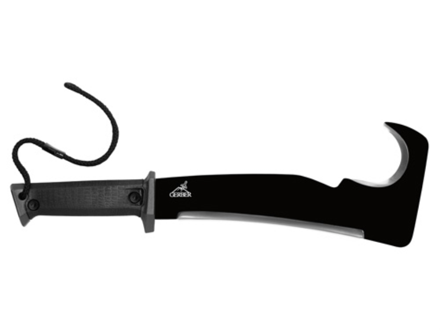 "Gerber Machete Pro 10.5"" Machete 1075 Cold Press Steel Blade Gator Grip Handle Black"