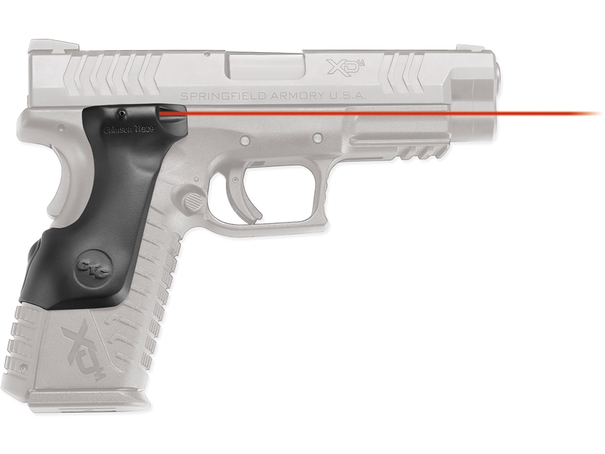 Crimson Trace Lasergrips Springfield XD(M) Full Size Rear Activation Polymer Black