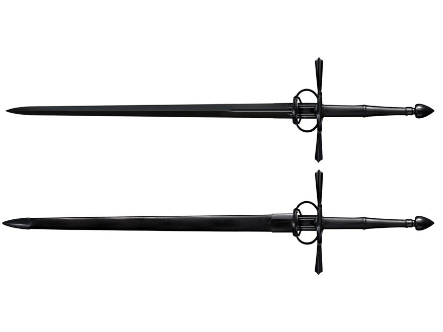 """Cold Steel MAA La Fontaine Sword of War 37.5"""" 1050 High Carbon Steel Blade Steel Handle"""