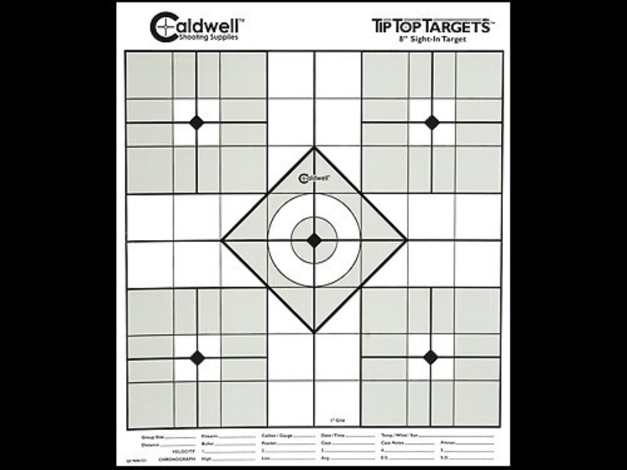 "Caldwell Tip Top Target 8"" Sight In Package of 10"