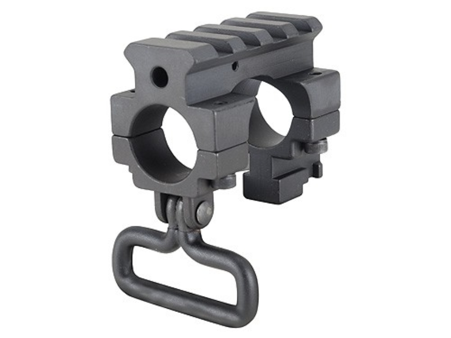 Yankee Hill Machine Gas Block Single Picatinny Rail with Bayonet Lug & Sling Swivel AR-...