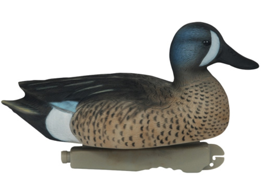 Tanglefree Pro Series Weighted Keel Blue Wing Teal Duck Decoys Pack of 6