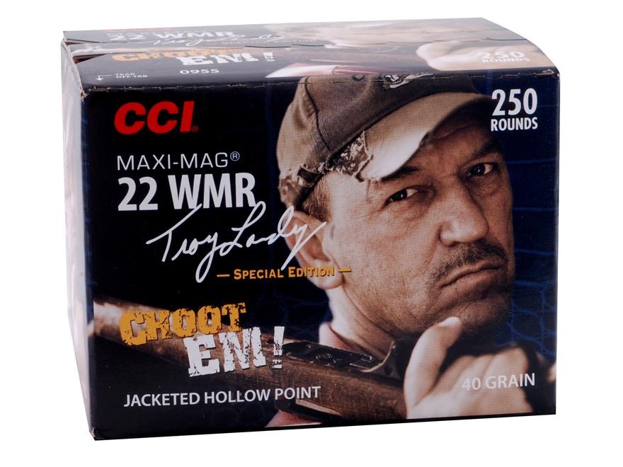 CCI Maxi-Mag Ammunition Troy Landry Special Edition 22 Winchester Magnum Rimfire (WMR) ...