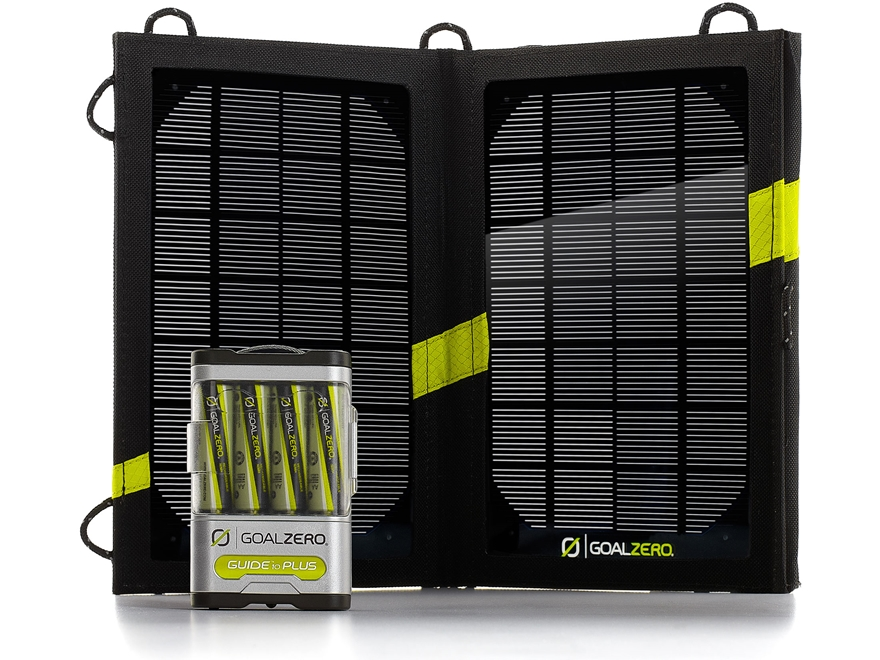 GoalZero Guide 10 Plus Solar Recharging Kit with Nomad 7