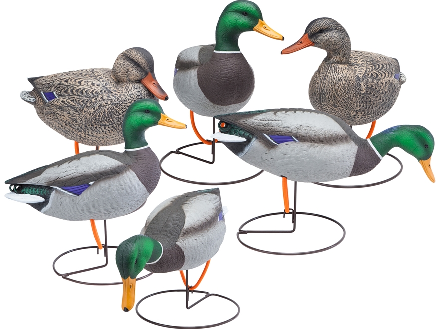 Final Approach Gunner HD Field Full Body Mallard Duck Decoy Pack of 6