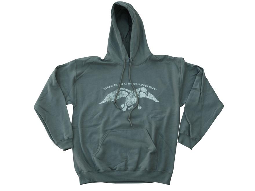 Duck Commander Men's Logo Hooded Sweatshirt Cotton Moss