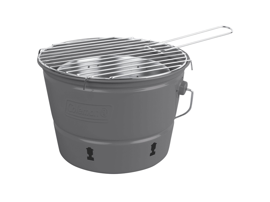 Coleman Party Pail Charcoal Camp Grill Gray