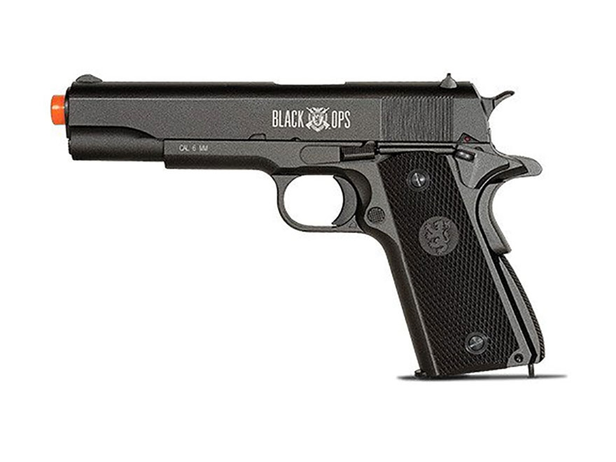 Black Ops 1911 Blow Back Air Pistol 177 Caliber BB Black