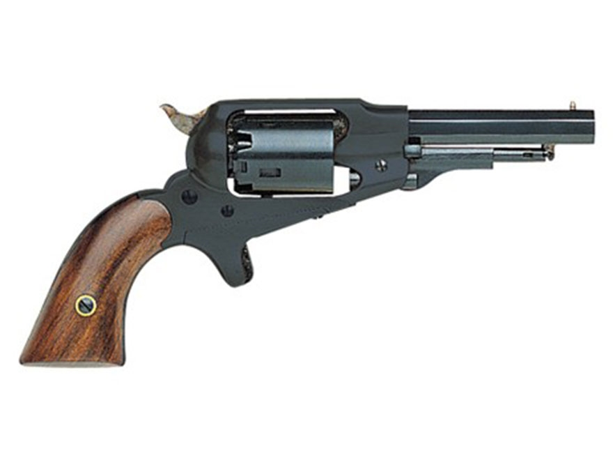 "Pietta 1863 Remington Pocket Black Powder Revolver 31 Caliber 3.5"" Barrel Steel Frame Blue"