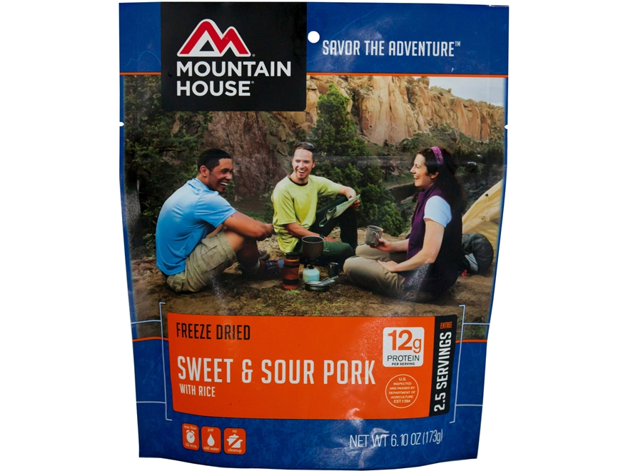 Mountain House Sweet & Sour Pork with Rice Freeze Dried Food 6.1 oz