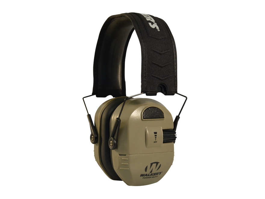 Walker's Ultimate Alpha Power Muff Electronic Earmuffs (NRR 26dB) Flat Dark Earth