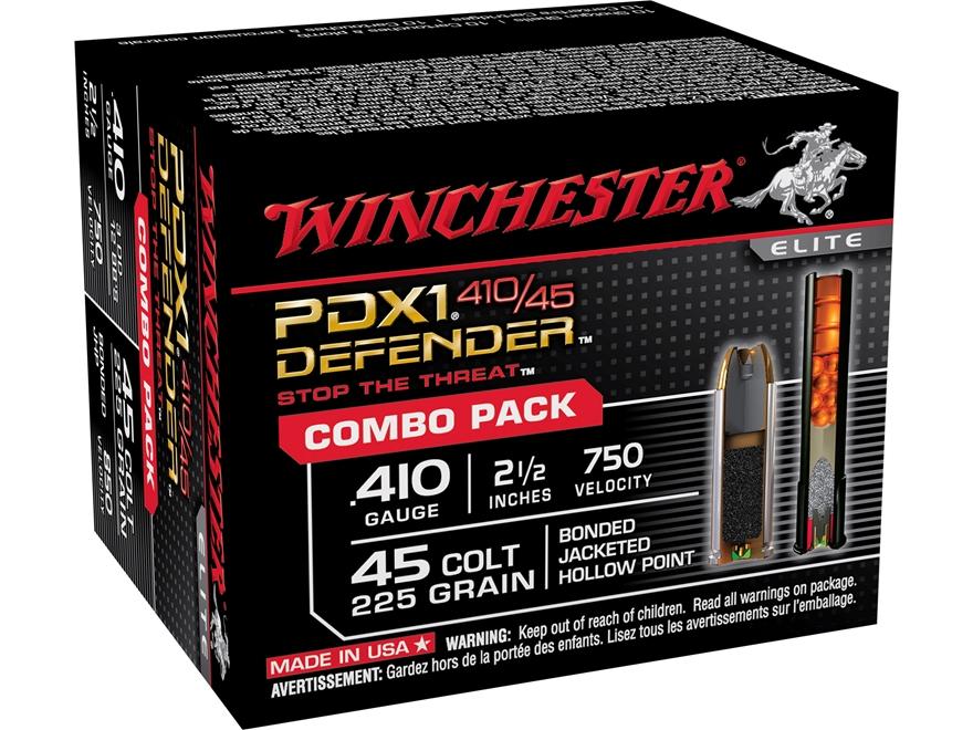 Winchester PDX1 Defender Ammunition Combo Pack 45 Colt (Long Colt) 225 Grain Bonded Jac...