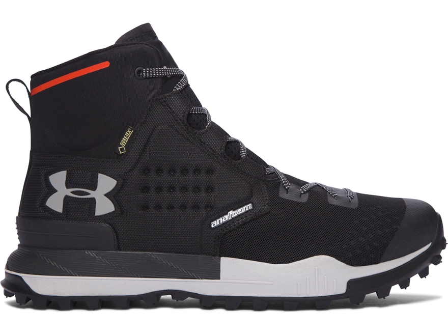 "Under Armour UA Newell Ridge Mid GTX 6"" Waterproof Hiking Boots Synthetic Black Men's"