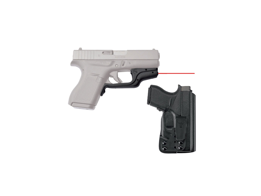 Crimson Trace Laserguard Glock 43 Red Laser Polymer Black with Blade-Tech Inside The Wa...