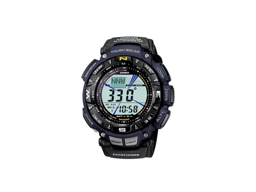 Casio Pathfinder Triple Sensor Solar Watch Cloth Band Blue