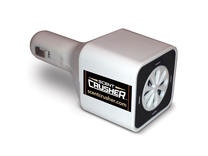 Scent Crusher Ozone Go Vehicle Scent Elimination Device White