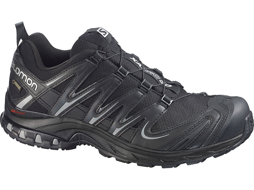 "Salomon XA Pro 3D GTX 4"" Trail Running Shoes Synthetic Black/Pewter Men's 8"