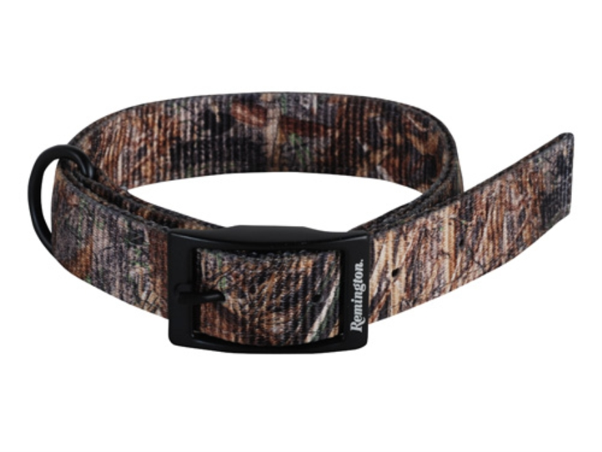 "Remington Double Ply Dog Collar 1"" x 26"" Nylon Mossy Oak Duck Blind Camo"