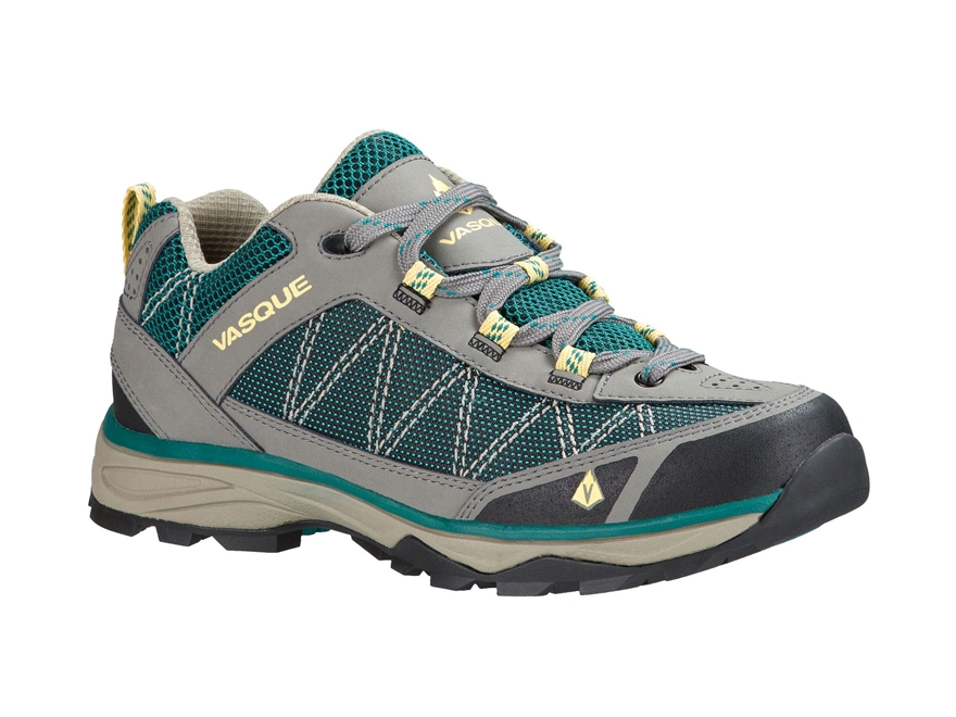 "Vasque Monolith Low 4"" Hiking Shoes Leather and Nylon Gargoyle and Everglade Women's"