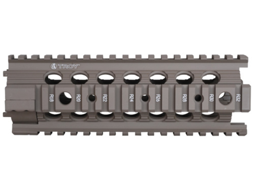 "Troy Industries 7"" MRF-C Battle Rail Free Float Quad Rail Handguard AR-15 Flat Dark Earth"