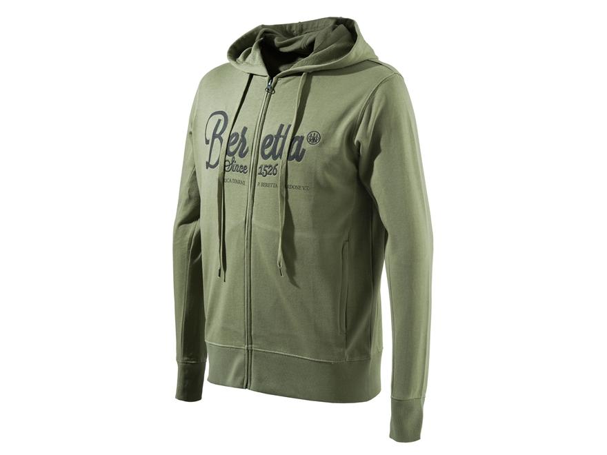 Beretta Men's Corporate Patch Sweatshirt Full Zip Cotton