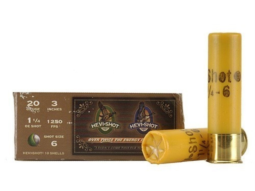"Hevi-Shot Duck Waterfowl Ammunition 20 Gauge 3"" 1-1/4 oz #6 Non-Toxic Shot"
