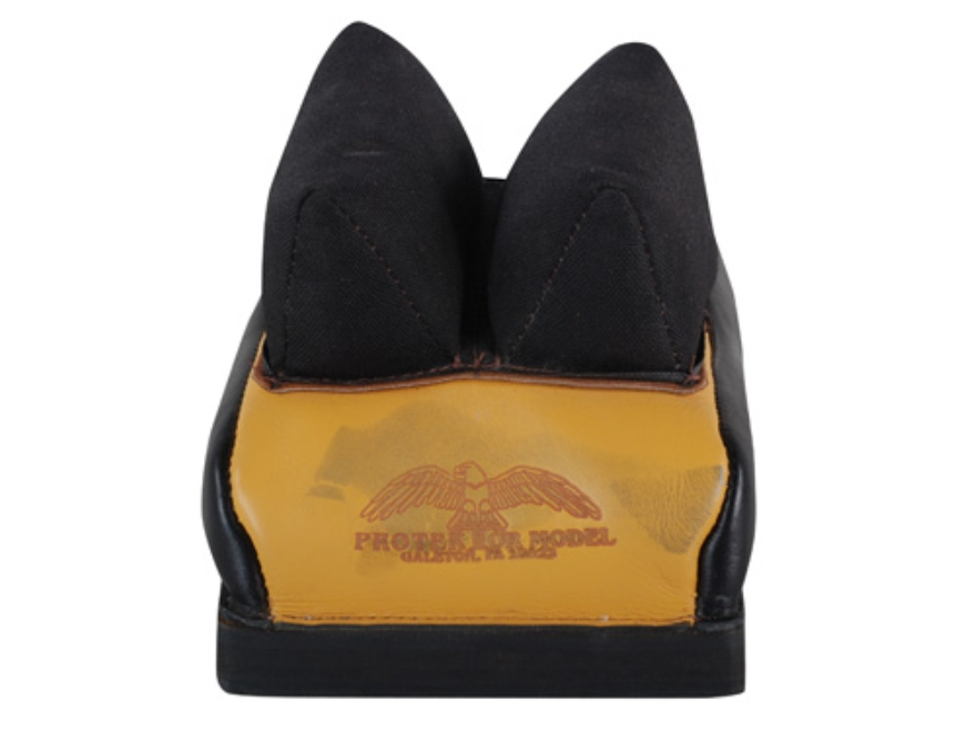 Protektor Custom Bumble Bee Dr Cordura Rabbit Ear Rear Shooting Rest Bag Leather Tan Fi...
