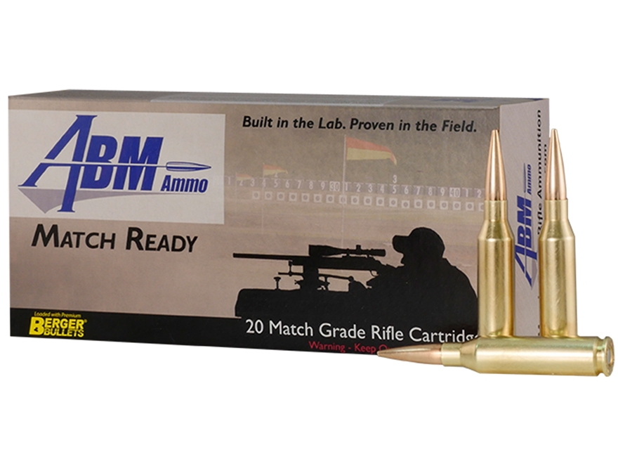 ABM Match Ready-Target Ammunition 260 Remington 140 Grain Berger Match Target Hybrid Bo...