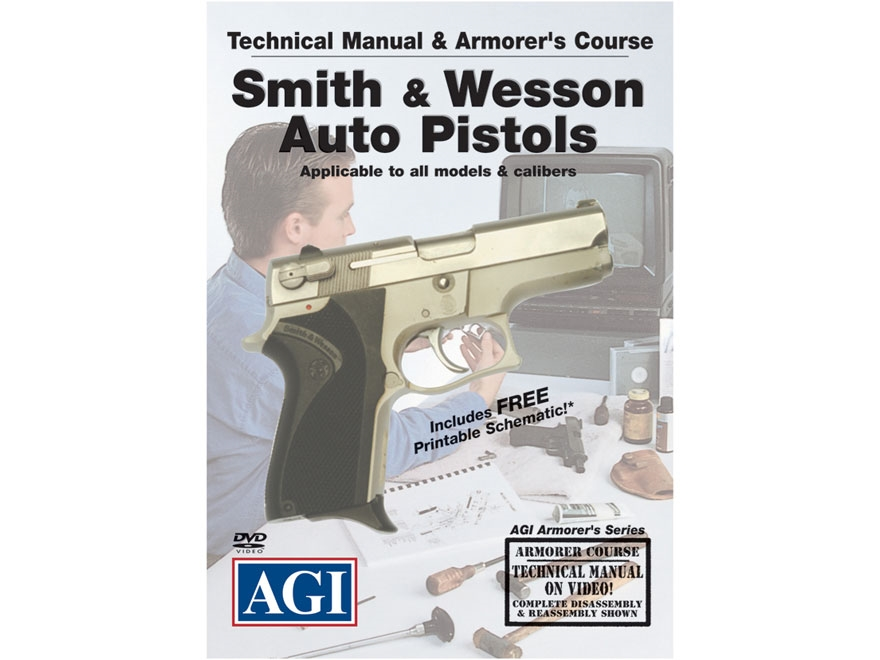 """American Gunsmithing Institute (AGI) Technical Manual & Armorer's Course Video """"S&W Aut..."""