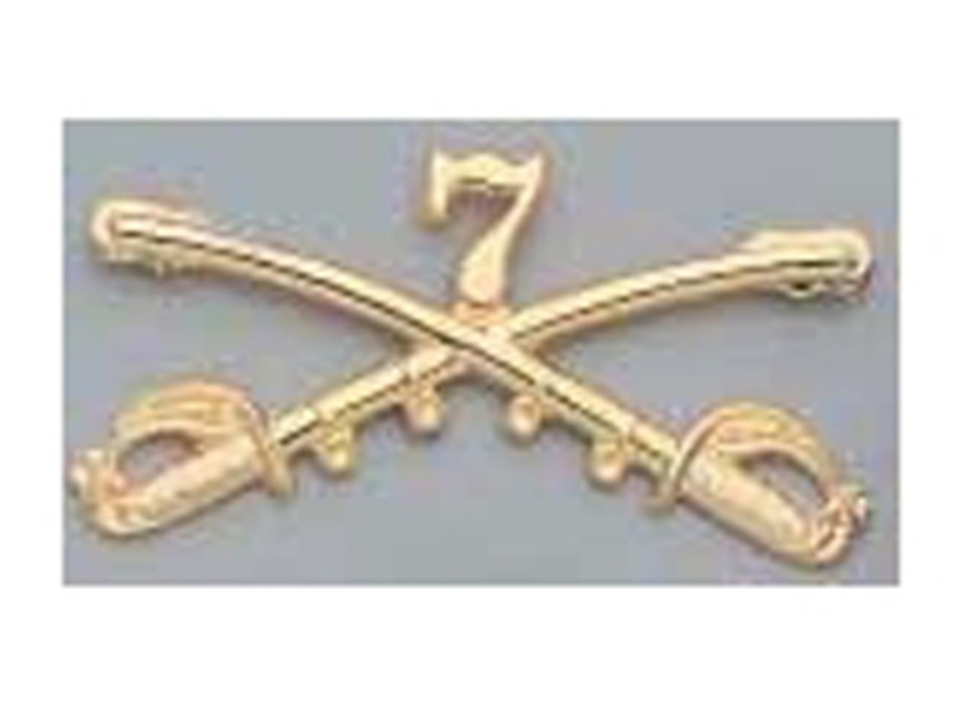 Collector's Armoury Replica Civil War Custer's Seventh Cavalry Insignia Brass