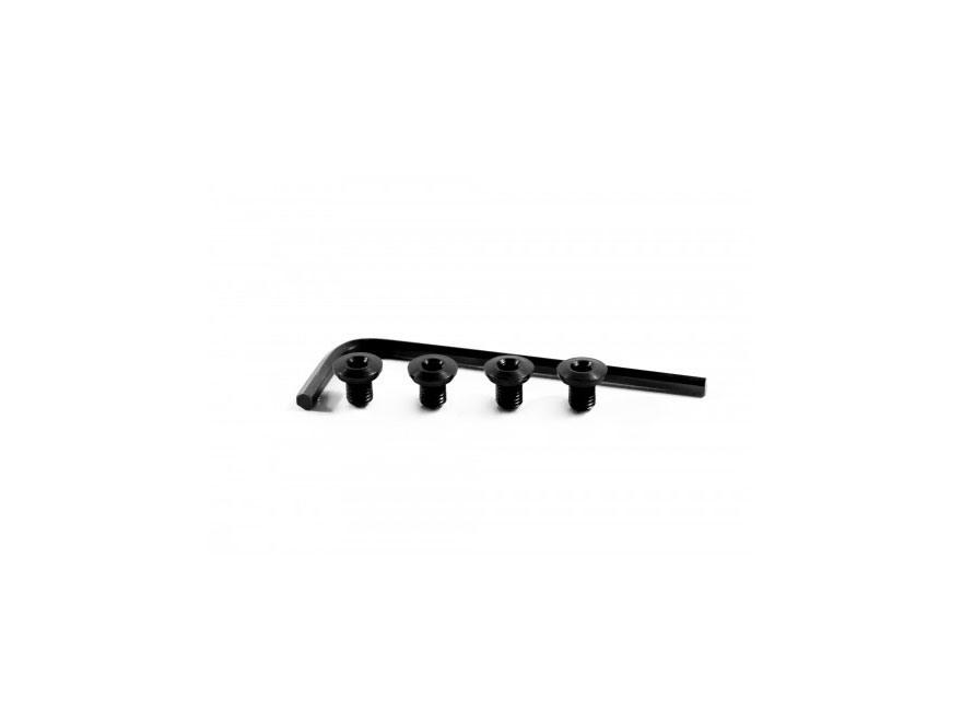 Nighthawk Custom Grip Screw and Bushing Combination 1911 Set of Four Thin Hex Head