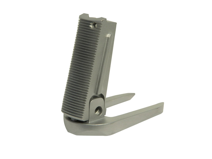 Nighthawk Custom Mainspring Housing with T3 Magazine Well 1911 Officer Serrated