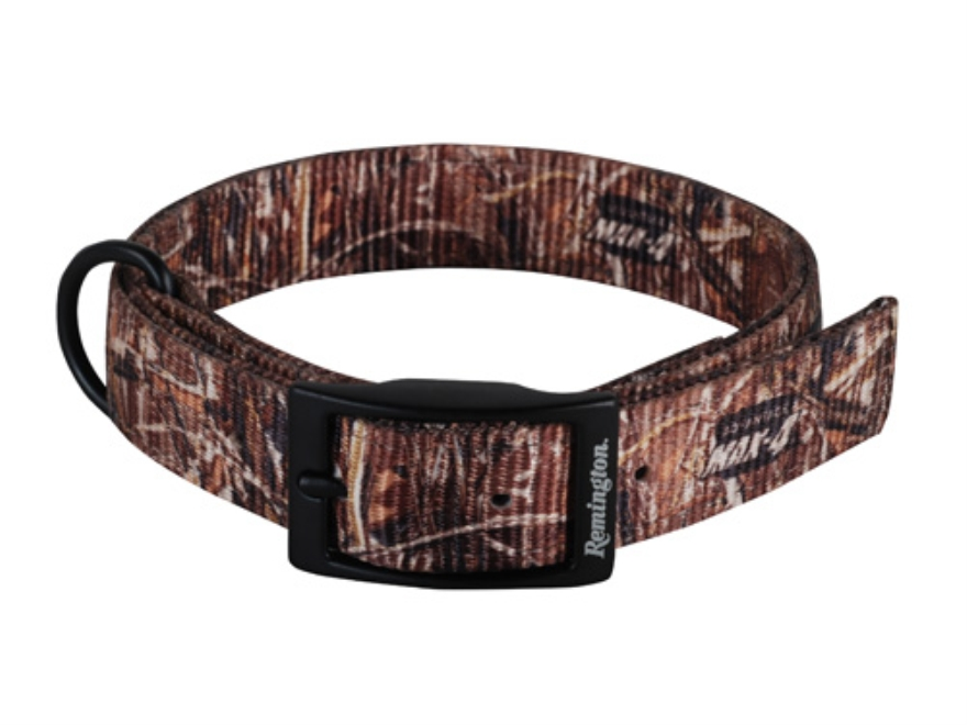 "Remington Double Ply Dog Collar 1"" x 18"" Nylon Realtree Max-4 Camo"