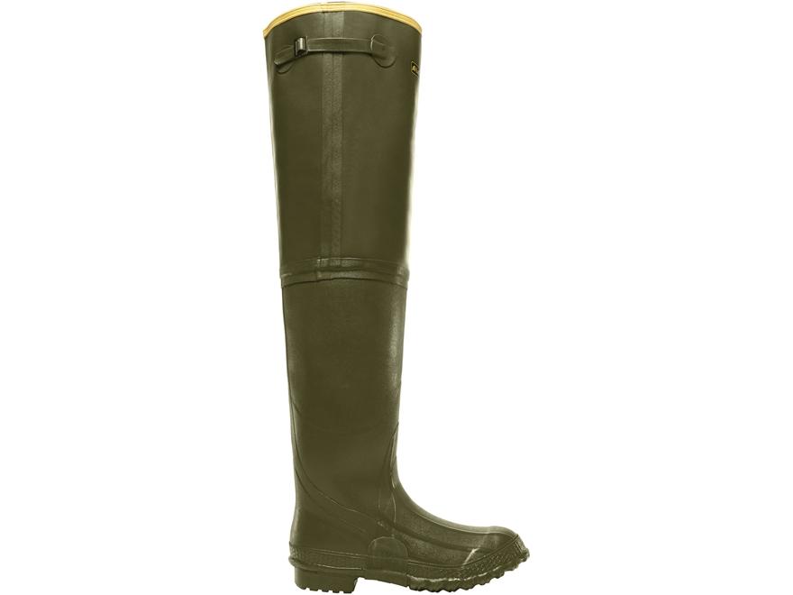 """LaCrosse ZXT Irrigation 26"""" Waterproof Hip Boots Rubber OD Green Men's"""