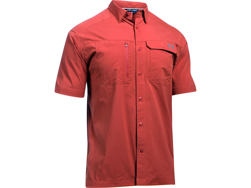 Under armour men 39 s ua fish hunter solid button up shirt for Under armour fish hunter shirt