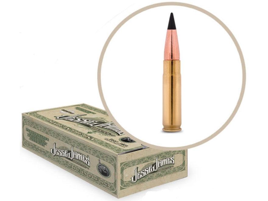 Jesse James TML Ammunition 300 AAC Blackout 110 Grain Barnes TAC-TX Flat Base Lead-Free...