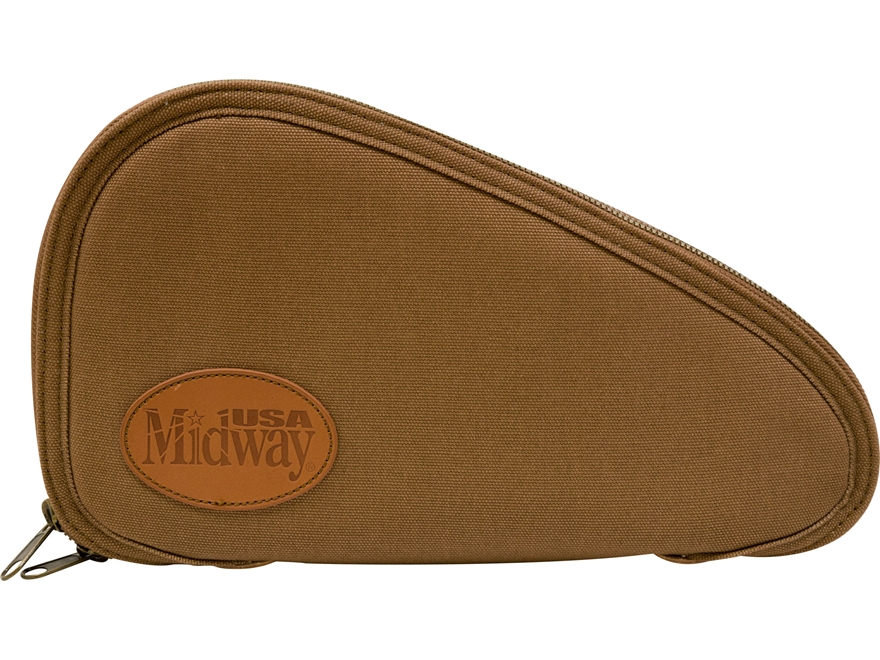 MidwayUSA Deluxe Cotton Canvas Flannel Lined Pistol Case