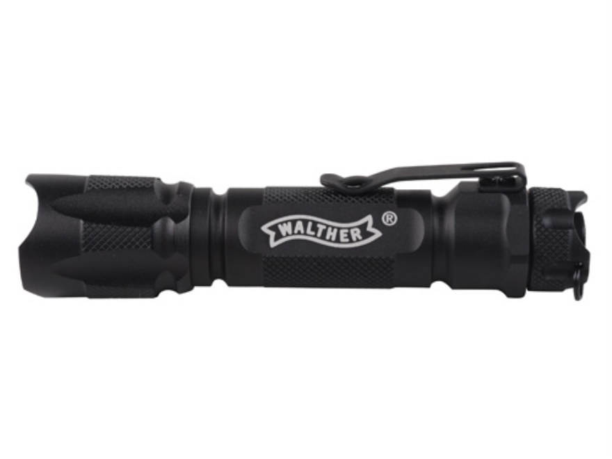 Walther Rebel Tactical Flashlight White LED Aluminum Black
