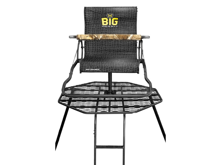 Hawk Big Denali Hunt Pod 13' Portable Ladder Treestand Steel Black