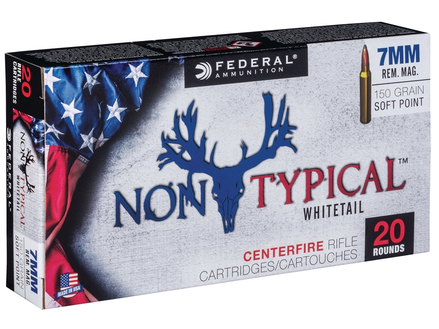 Federal Non-Typical Ammunition 7mm Remington Magnum 150 Grain Soft Point Box of 20
