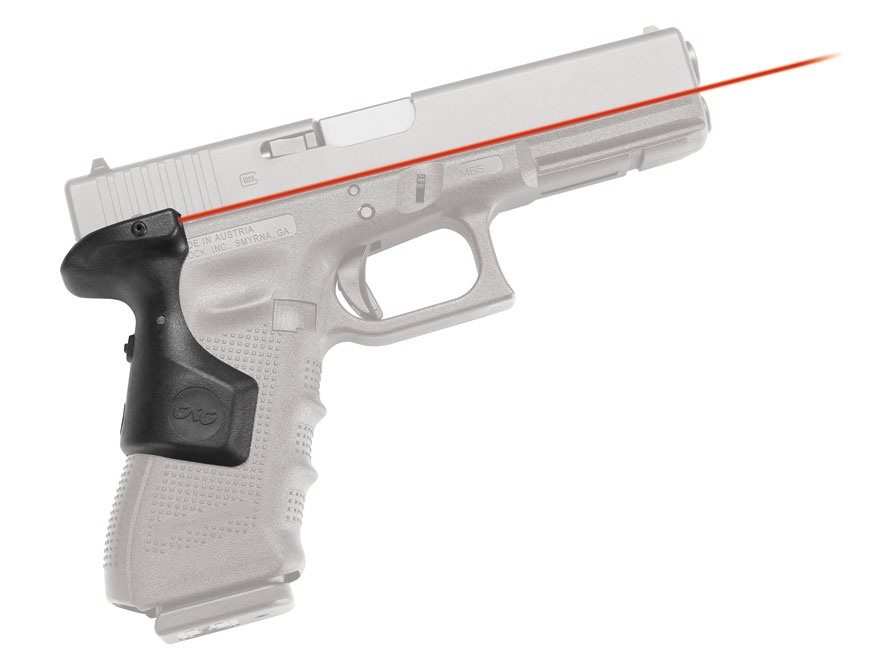 Crimson Trace Lasergrips Glock Gen-4 Rear Activation Polymer Black