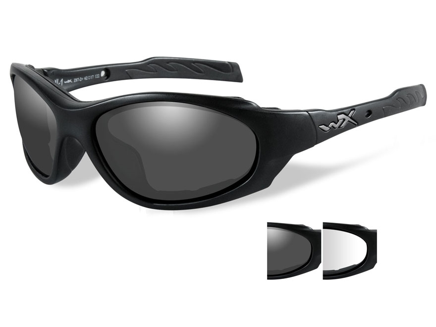 Wiley X XL-1 Advanced Changeable Series Safety Sunglasses Matte Black Frame Smoke and C...